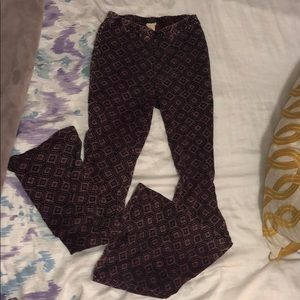 Never worn Bell bottom tribal stretchy pants